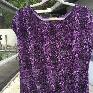 Miss Tina by Tina Knowles purple blouse